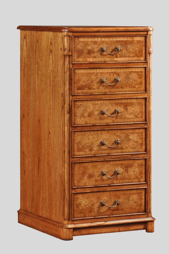 Filing Cabinet with Three Drawers in Burr Walnut